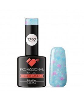 1292 VB Line Yogurt Light Blue Neon Glitter gel nail polish