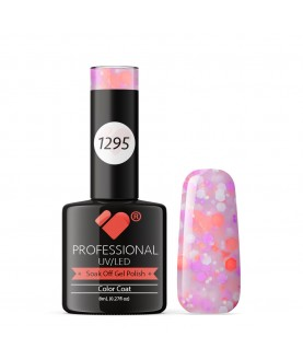 1295 VB Line Yogurt Light Pink Neon Glitter gel nail polish