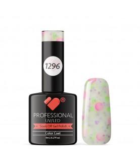 1296 VB Line Yogurt Snow White Neon Glitter gel nail polish