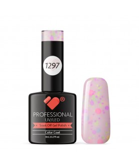 1297 VB Line Yogurt Snow Purple Neon Glitter gel nail polish