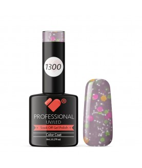 1300 VB Line Yogurt Purple Neon Glitter gel nail polish