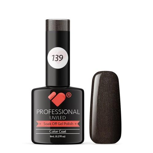 139 VB Line Burnt Romance Brown gel nail polish