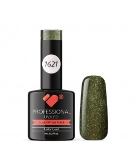 1621 VB Line Green Chameleon Metallic gel nail polish