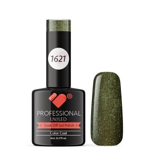 1621 VB Line Green Chameleon Metallic gel nail polish