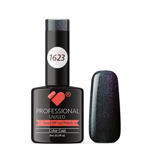 1623 VB Line Green Chameleon Metallic gel nail polish