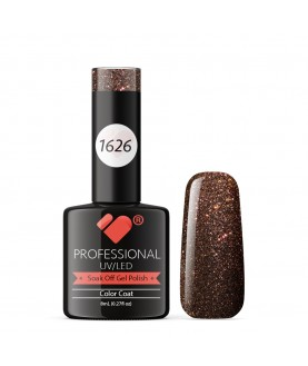 1626 VB Line Red Brown Chameleon Metallic gel nail polish