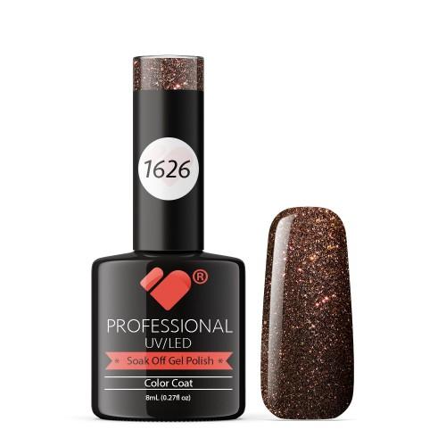 1626 VB Line Red Brown Chameleon Metallic gel nail polish