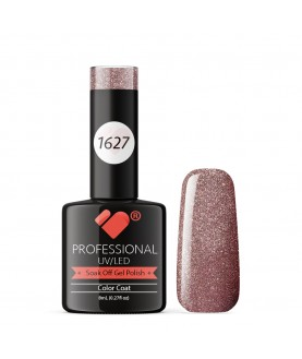 1627 VB Line Pink Rose Gold Chameleon Metallic gel nail polish