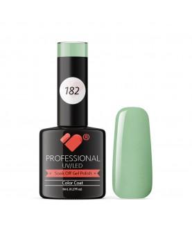 182 VB Line Menthol Green Pastel gel nail polish