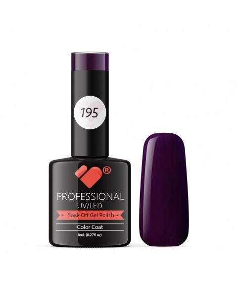 195 VB Line Dark Purple gel nail polish
