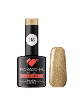216 VB Line Golden Love Glitter gel nail polish