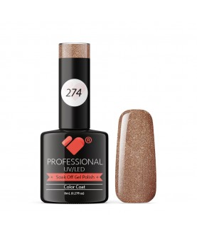 274 VB Line Bronze Cappuccino Metallic gel nail polish