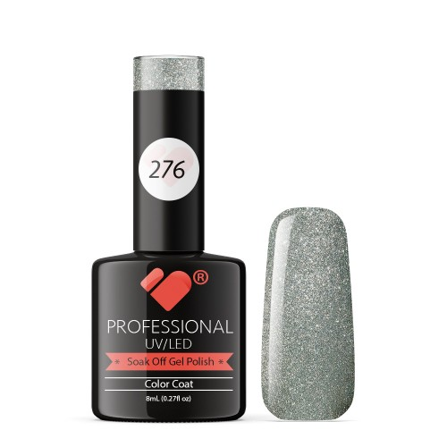 276 VB Line Silver Queen in Chrome gel nail polish