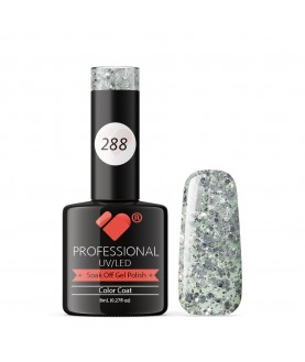 288 VB Line Transparent Silver Glitter gel nail polish
