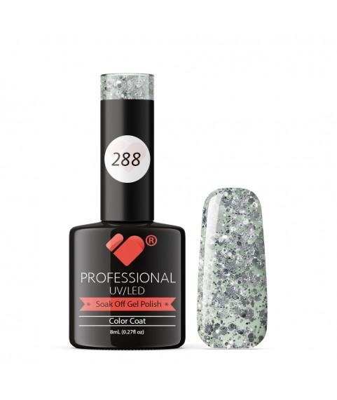288 VB Line Transparent Silver Glitter gel nail polish