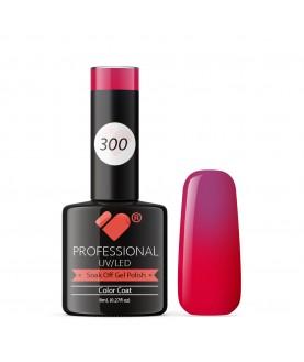 300 VB Line Fruit Pink Metallic gel nail polish