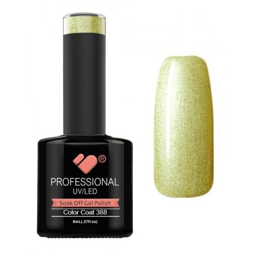 388 VB Line Limeade Metallic Green gel nail polish