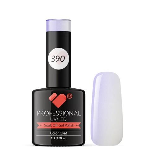 390 VB Line White with Pearl Pink gel nail polish