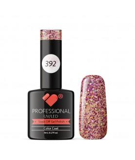 392 VB Line Purple Pink Green Glitter gel nail polish