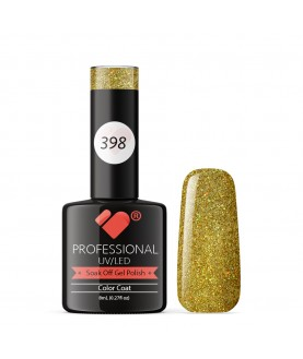 398 VB Line Grand Galla Gold Glitter gel nail polish