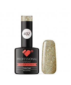 402 VB Line Grey Silver Glitter gel nail polish