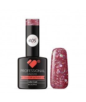 405 VB Line Rose Silver Glitter gel nail polish