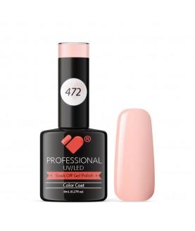 472 VB Line Gentle Pastel Light Pink gel nail polish