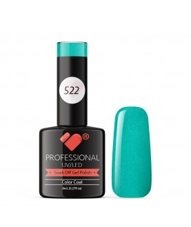 522 VB Line Green Blue Ocean Metallic gel nail polish