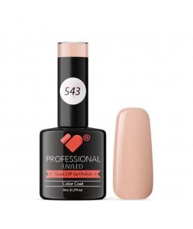 543 VB Line Salmon Nude Pink Pastel gel nail polish
