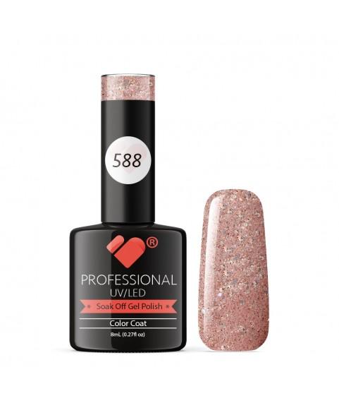 588 VB Line Light Rose Mirror Glitter gel nail polish