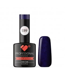 599 VB Line Midnight Dark Blue Metallic gel nail polish