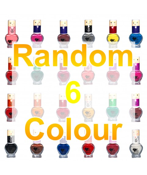 6 VB Line Kids Nail Polish Non Toxic Washable for Children Choice of 6 Shades