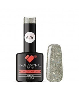 626 VB Line Grey Silver Glitter gel nail polish