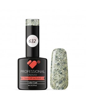 632 VB Line Transparent Silver Glitter gel nail polish