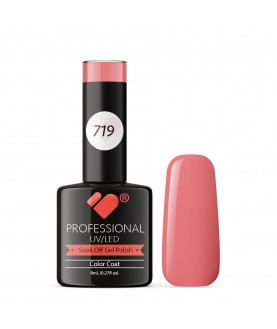 719 VB Line Flower Bud Dark Pink gel nail polish
