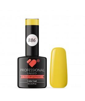 886 VB Line Banana Hot Yellow gel nail polish