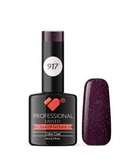 917 VB Line Purple Passion Metallic gel nail polish