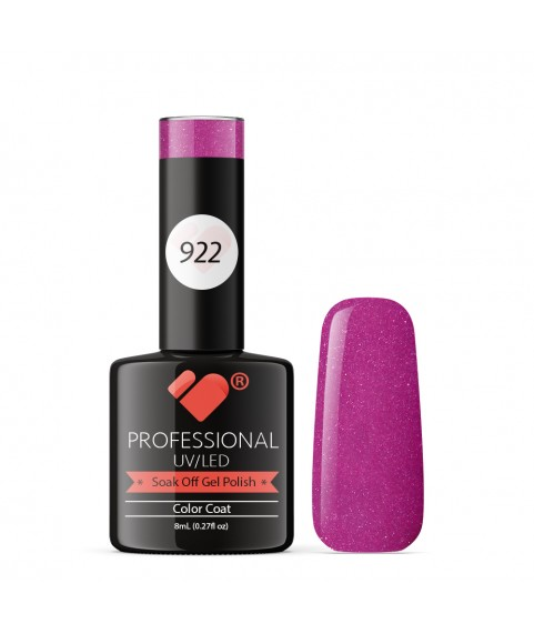 922 VB Line Begonia Purple Metallic gel nail polish