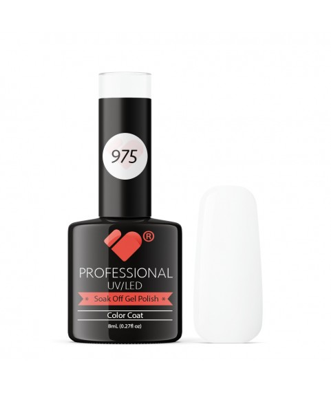 975 VB Line White Christmas Snow gel nail polish