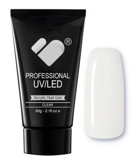 CLEAR VB Line Nail Acrylic Builder Gel 60g - UV/LED Professional Acrylic