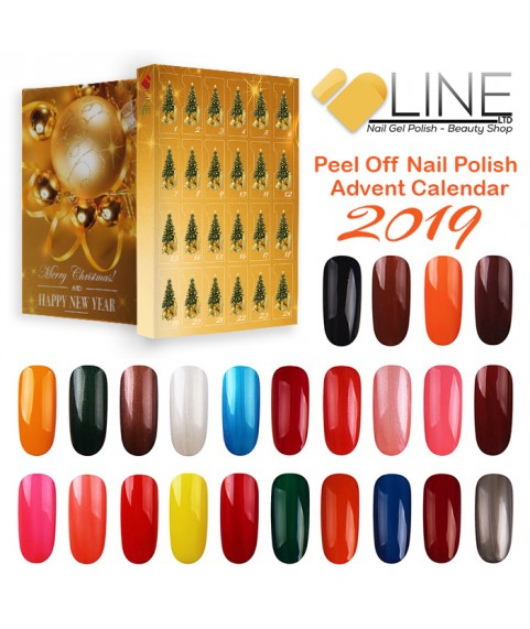 VB Line Advent Calendar 24 Peel Off Nail Polish - Countdown to Merry Christmas