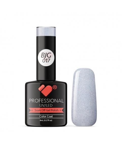 BJG-017 VB Line Silver Sky Metallic gel nail polish