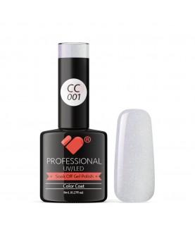 CC001 VB Line Conch Pearl Purple Metallic gel nail polish