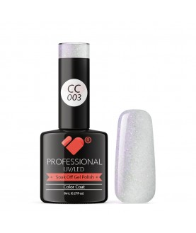 CC003 VB Line Conch Pearl Pink Metallic gel nail polish