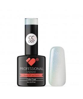 CC007 VB Line Conch Pearl Green Metallic gel nail polish