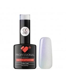 CC010 VB Line Conch Pearl Blue Metallic gel nail polish
