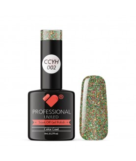 CCYH-002 VB Line Galaxy Green Red Gold gel nail polish