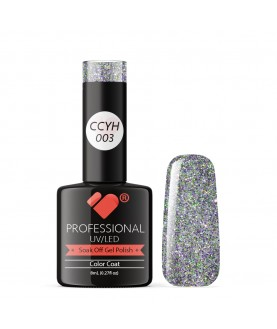CCYH-003 VB Line Galaxy Purple Grey Silver gel nail polish