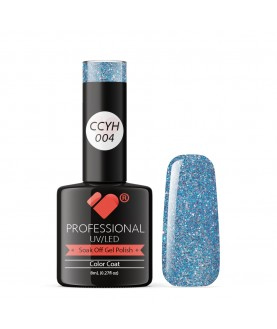 CCYH-004 VB Line Galaxy Blue Pink Silver gel nail polish