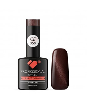 CE050 VB Line Cat Eye Brown Metallic gel nail polish